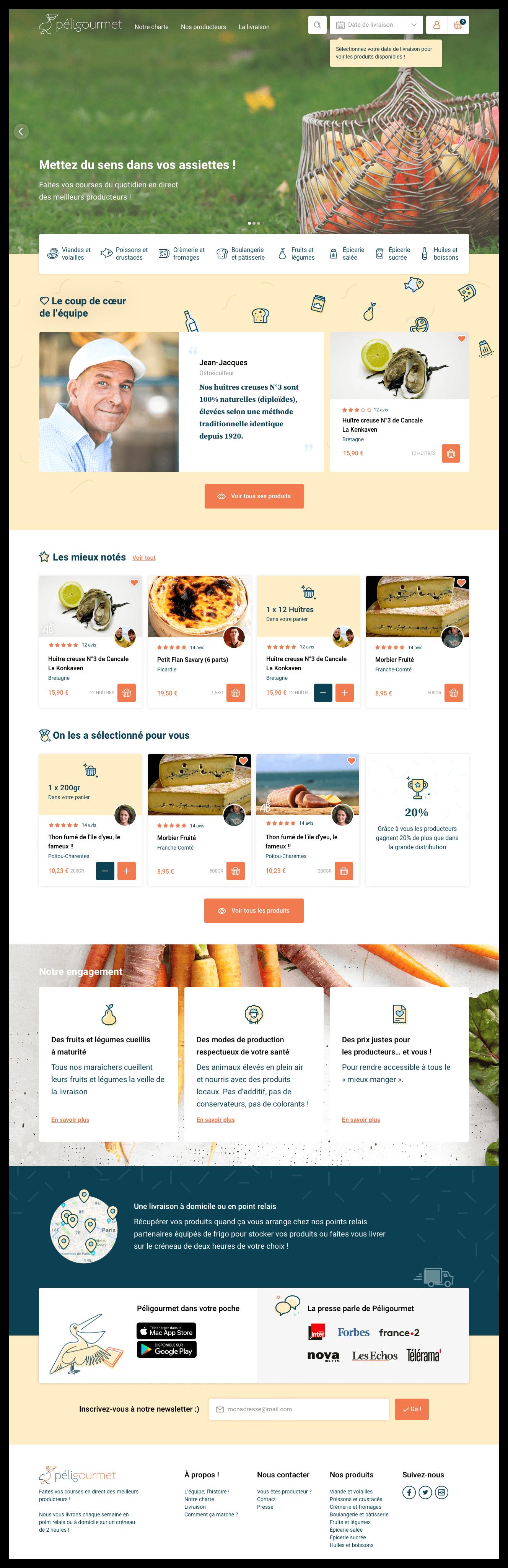 UI design home page