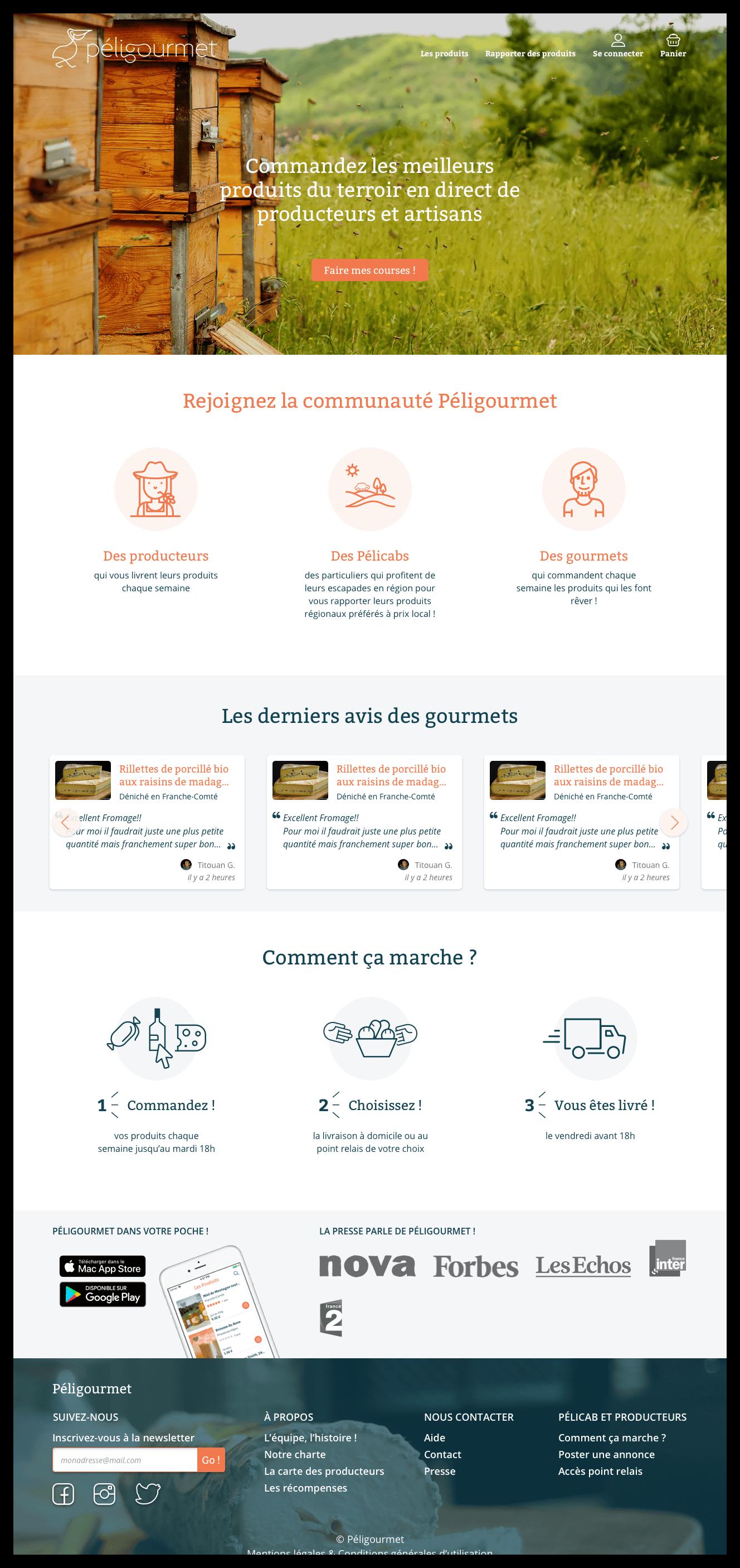 UI design peligourmet